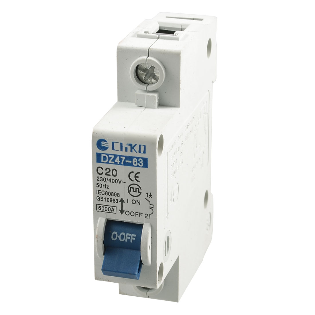 20A Rated Current AC 230/400V Single Pole Mini Circuit Breaker