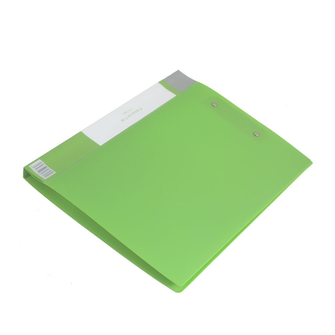 Double Metal Clips Green Plastic A4 Paper File Folder 2 Pcs