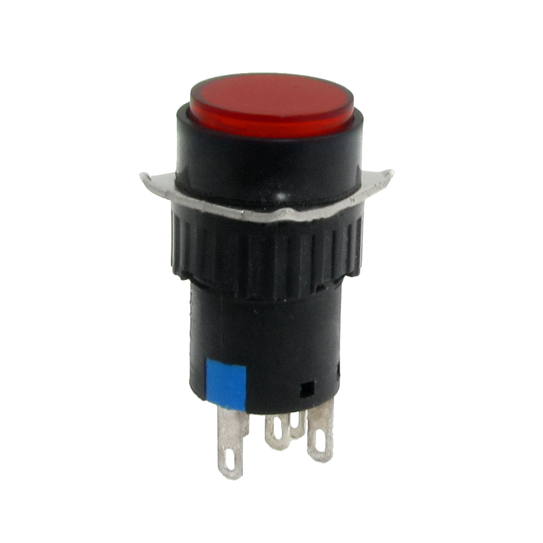 AC 220V Red Neon Light Round Self Locking Push Button Switch
