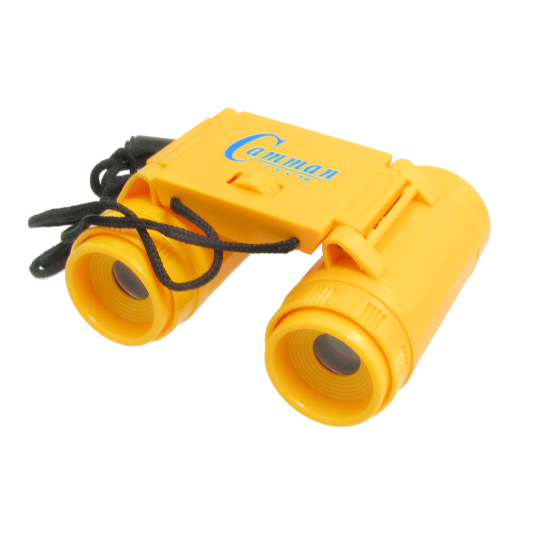Child Portable Yellow Plastic Binoculars Telescope w Neck Strap