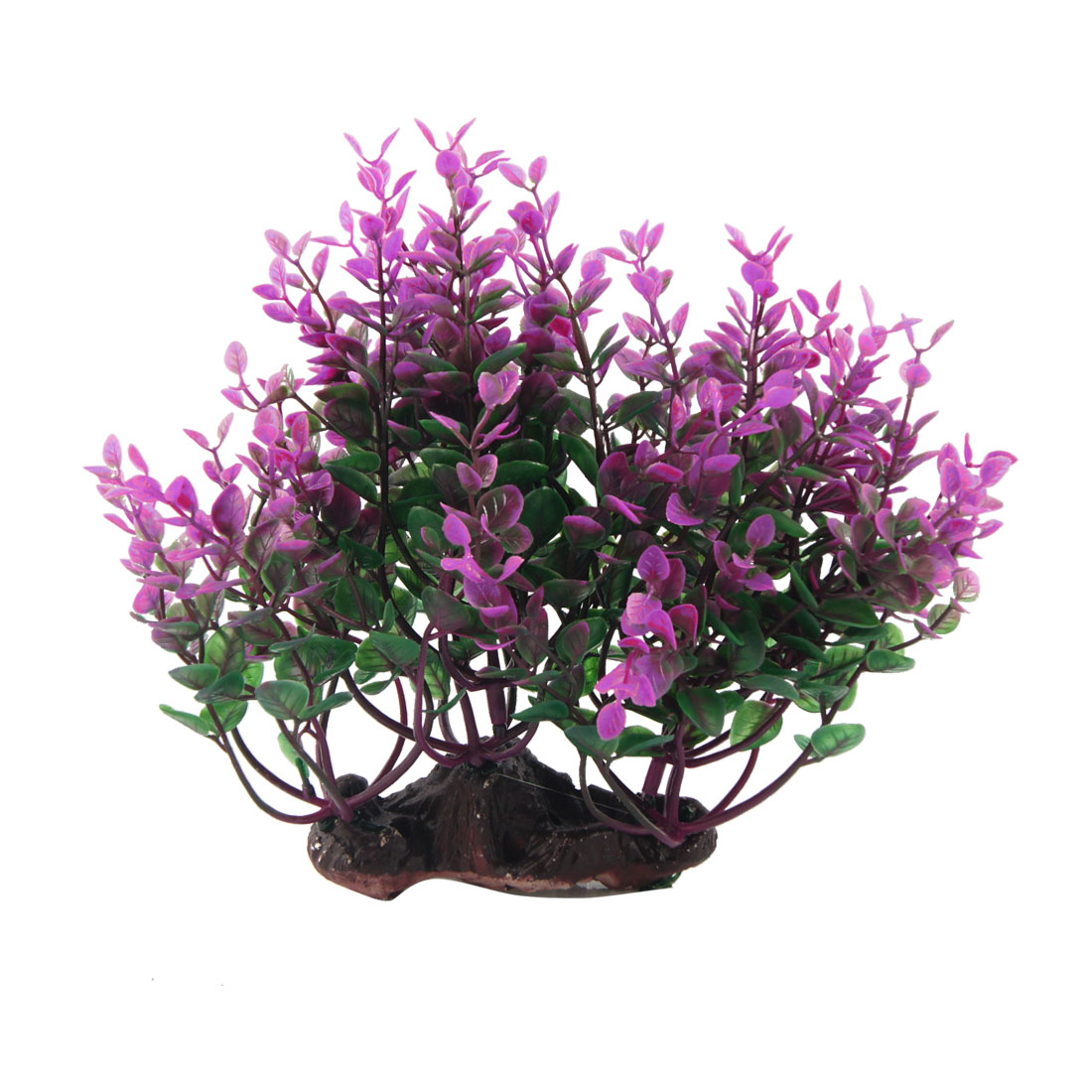Purple Green Artificial Decorative Grass Ornament for Aquarium Fish Tank