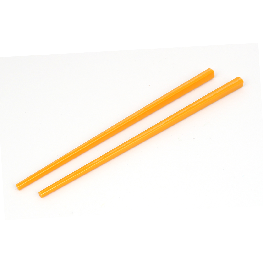 "2 Pcs Orange Plastic 6.9"" Long Chopsticks for Children"