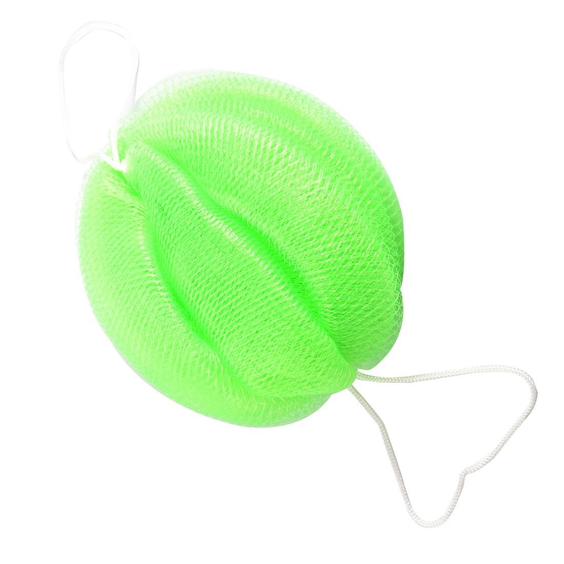 Green Soft Nylon Foam Bubble Mesh Net Bath Shower Pouf
