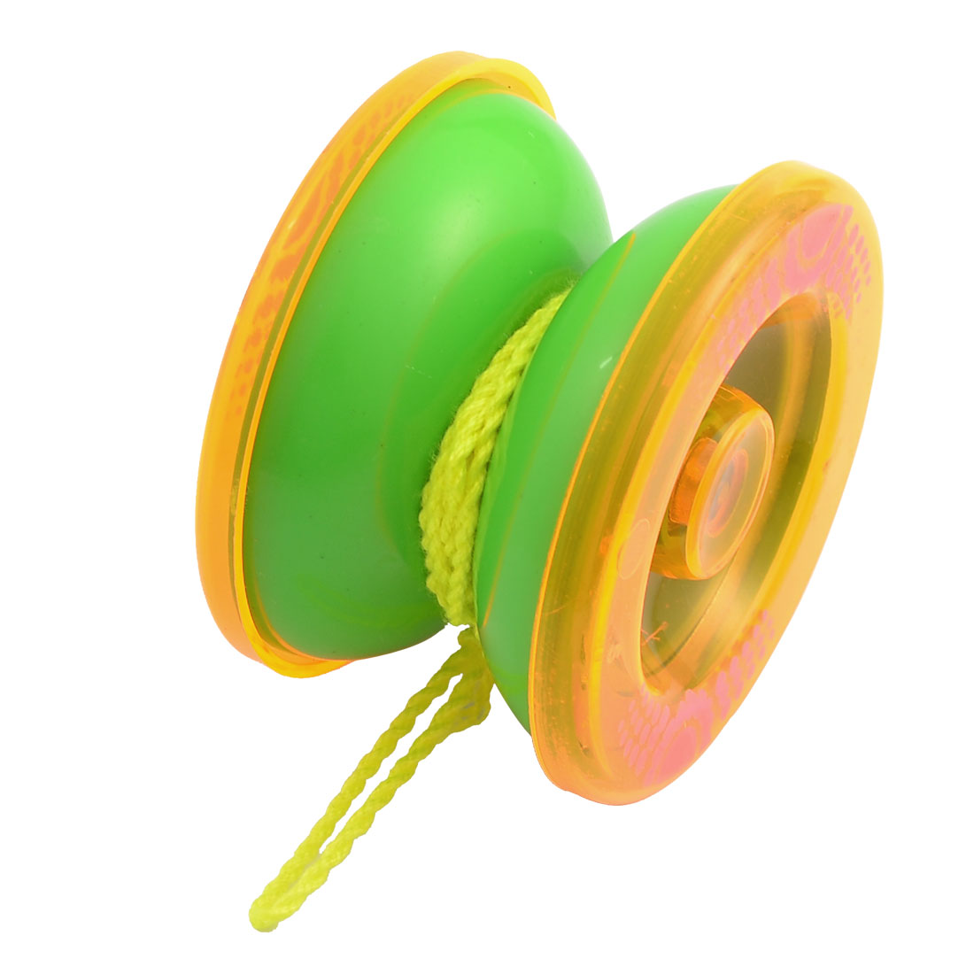"2.2"" Diameter Wheel Orange Green Plastic Playing Yo Yo Toy for Children"