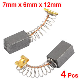 "4 Pcs DC Electric Motor 3/11"" x 15/64"" x 15/32"" Carbon Brushes"