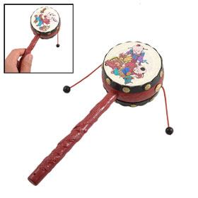 Toddlers Babies Plastic Hand Shake Music Instrument Toy Rattle Drum