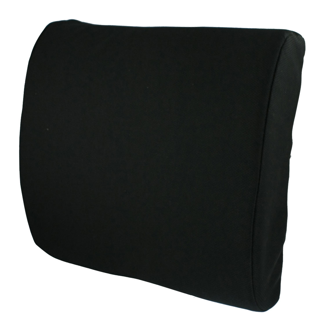 Car Black Padded Lumbar Back Support Rest Pillow Cushion