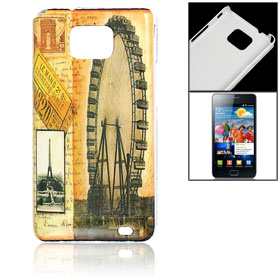 Ferris Wheel Eiffel Tower Hard Plastic Back Shell for Samsung Galaxy S2 i9100