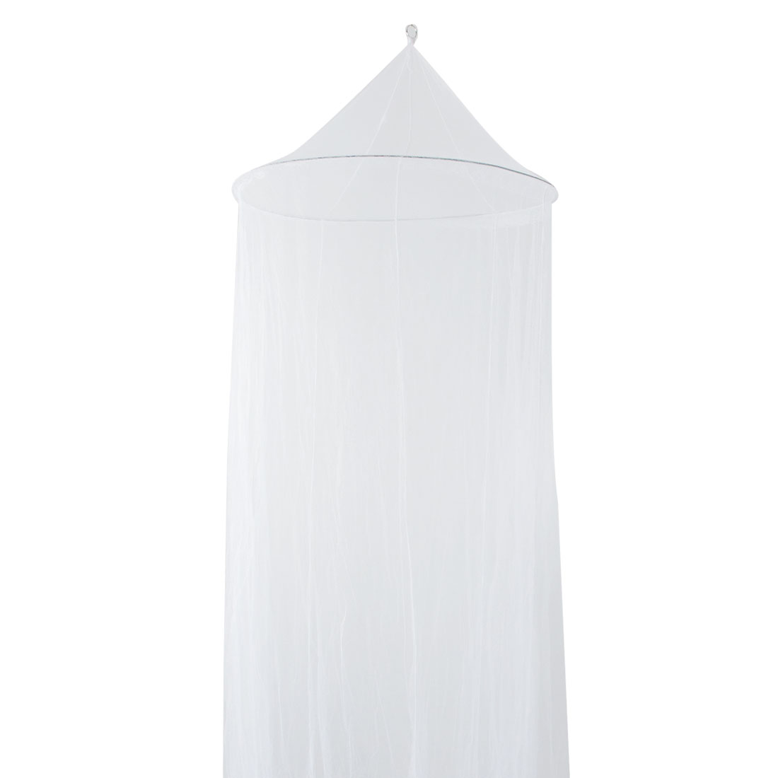 Girls Round Metal Ribs Closed Style White Mosquito Net