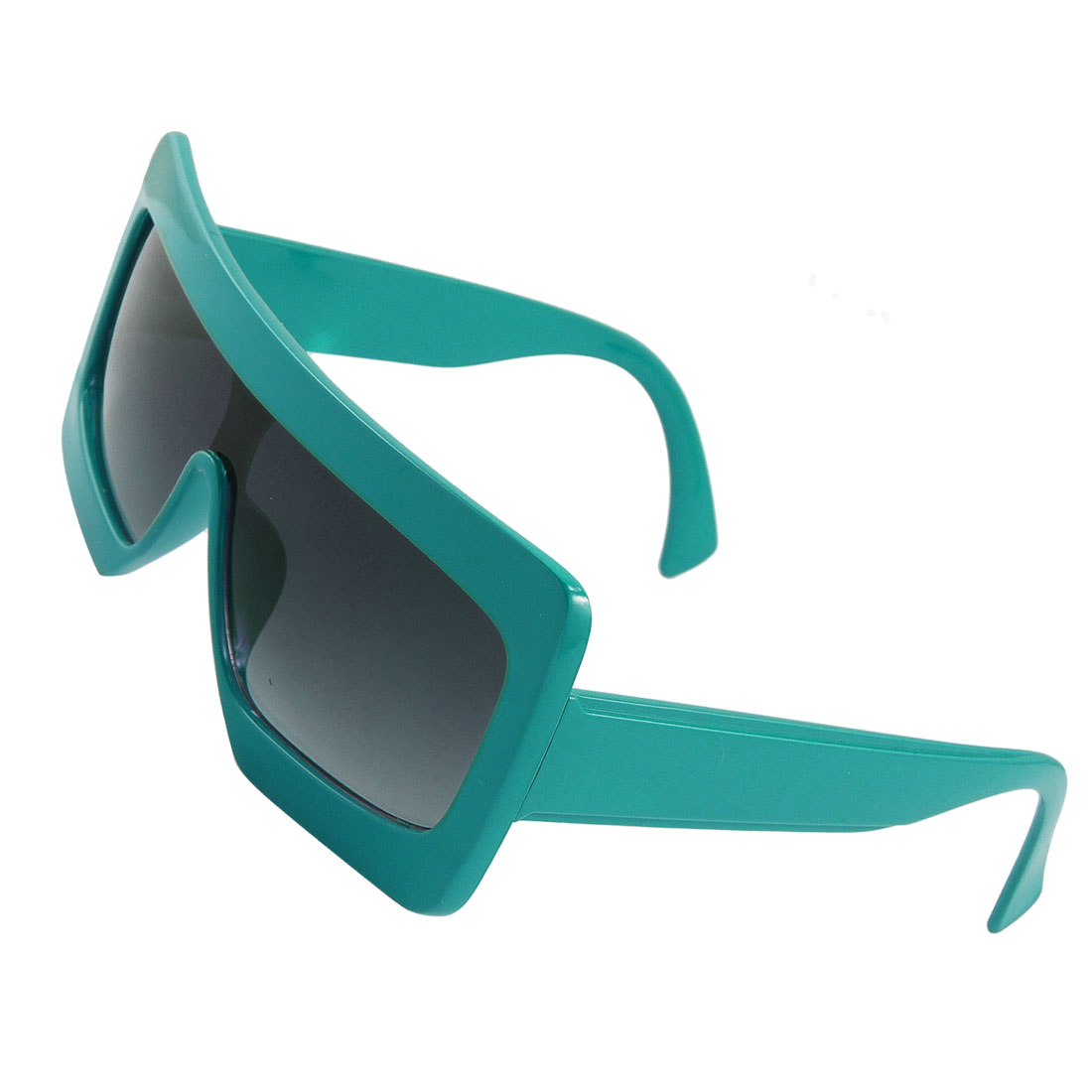 Unisex Green Plastic Big Thick Frame Broad Arm Sunglasses