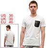Mens Stylish White Casual V Neck NEW Fashion Summer Tee Shirt Tops S