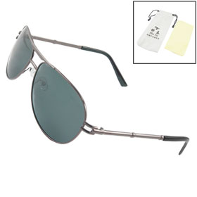 Coffee Color Gray Teardrop Traveling Polarized Sunglasses for Man