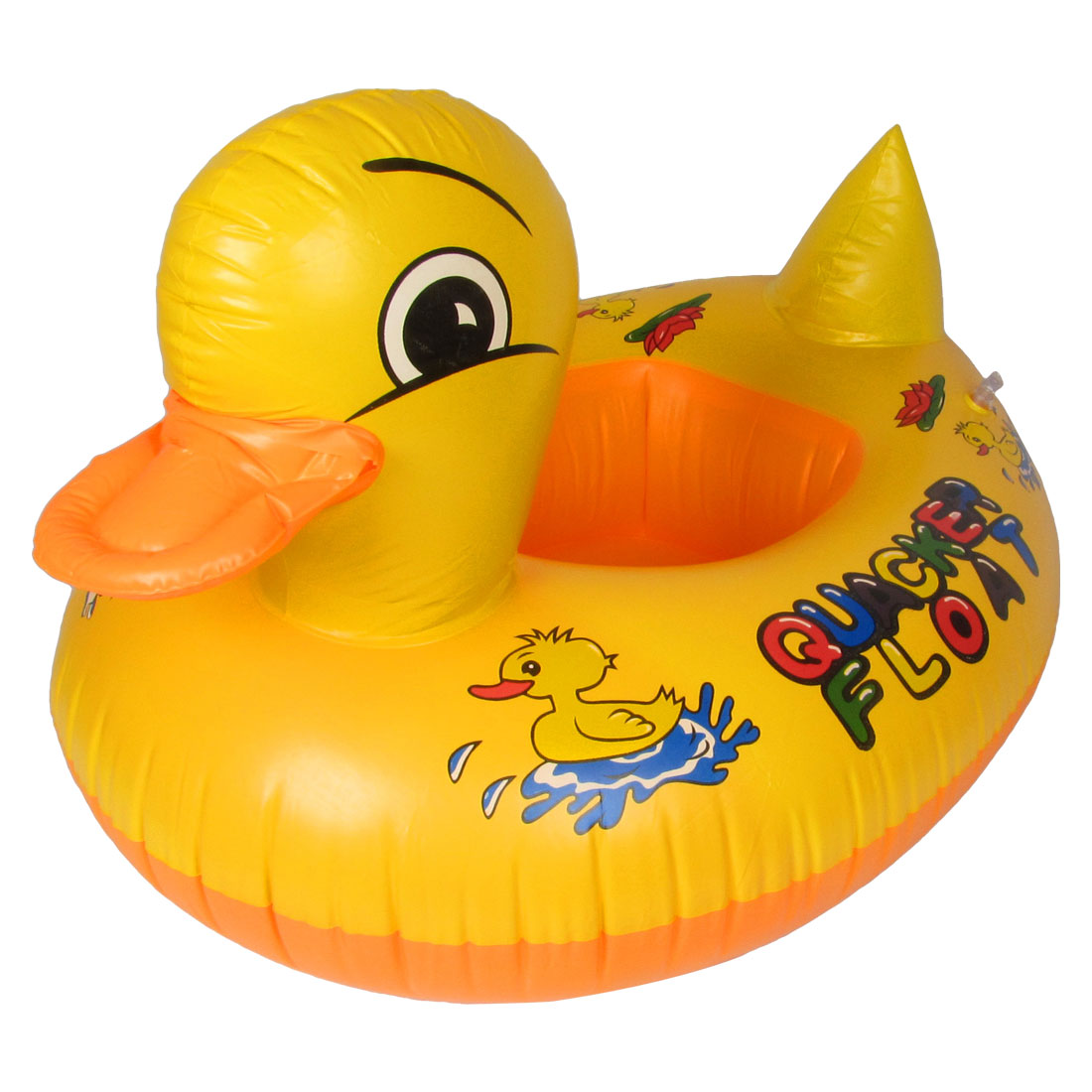 Yellow Duck Pattern PVC Inflatable Paddle Floating Swimming Boat for Childre