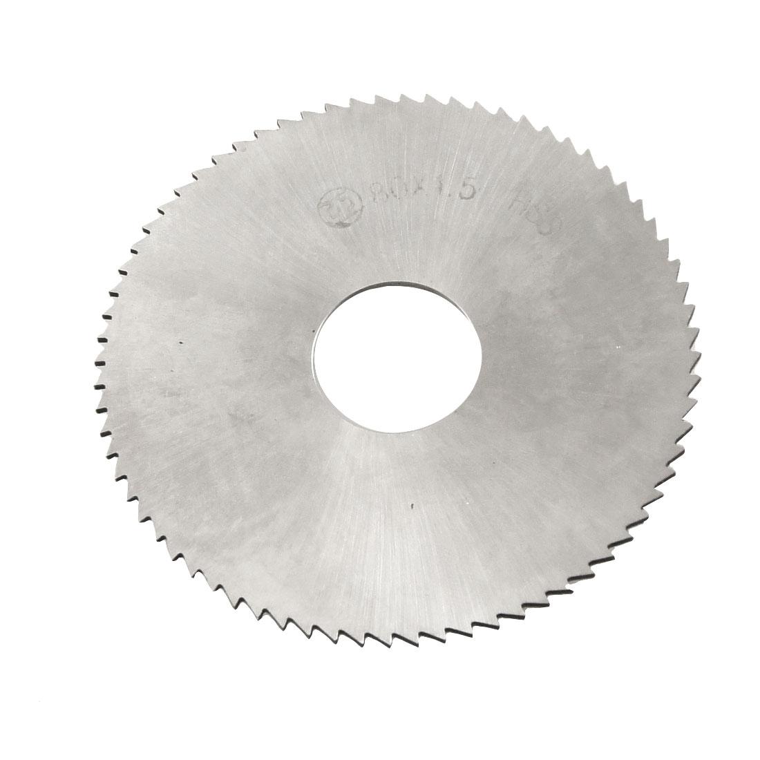 80mm x 1.5mm x 22mm HSS 72T Slitting Saw Blade Cutting Tool