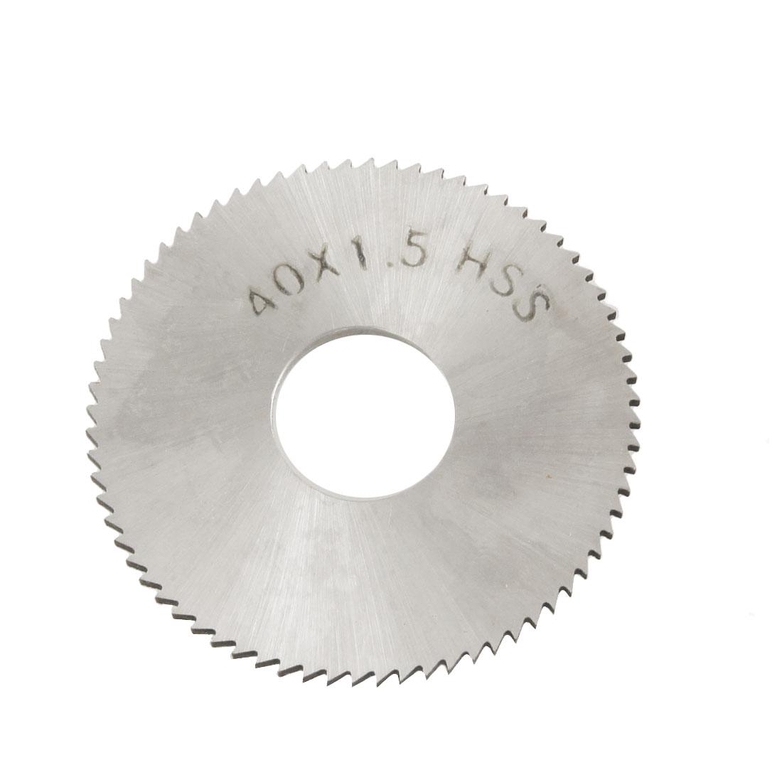 40mm x 1.5mm x 13mm HSS 72T Slitting Saw Blade Cutting Tool