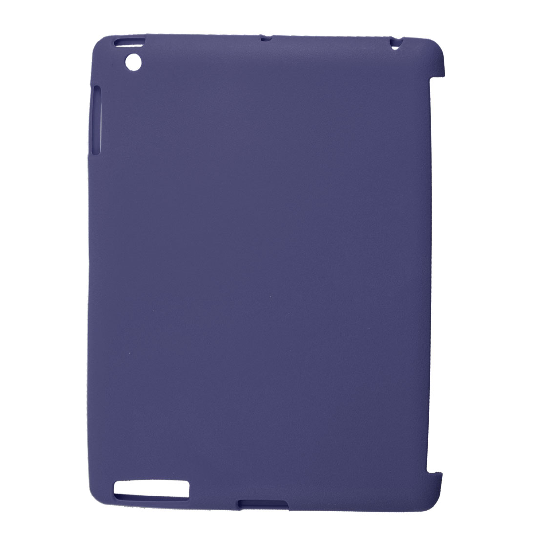 Dark Blue Soft Plastic Protective Shell Cover for iPad 2 3