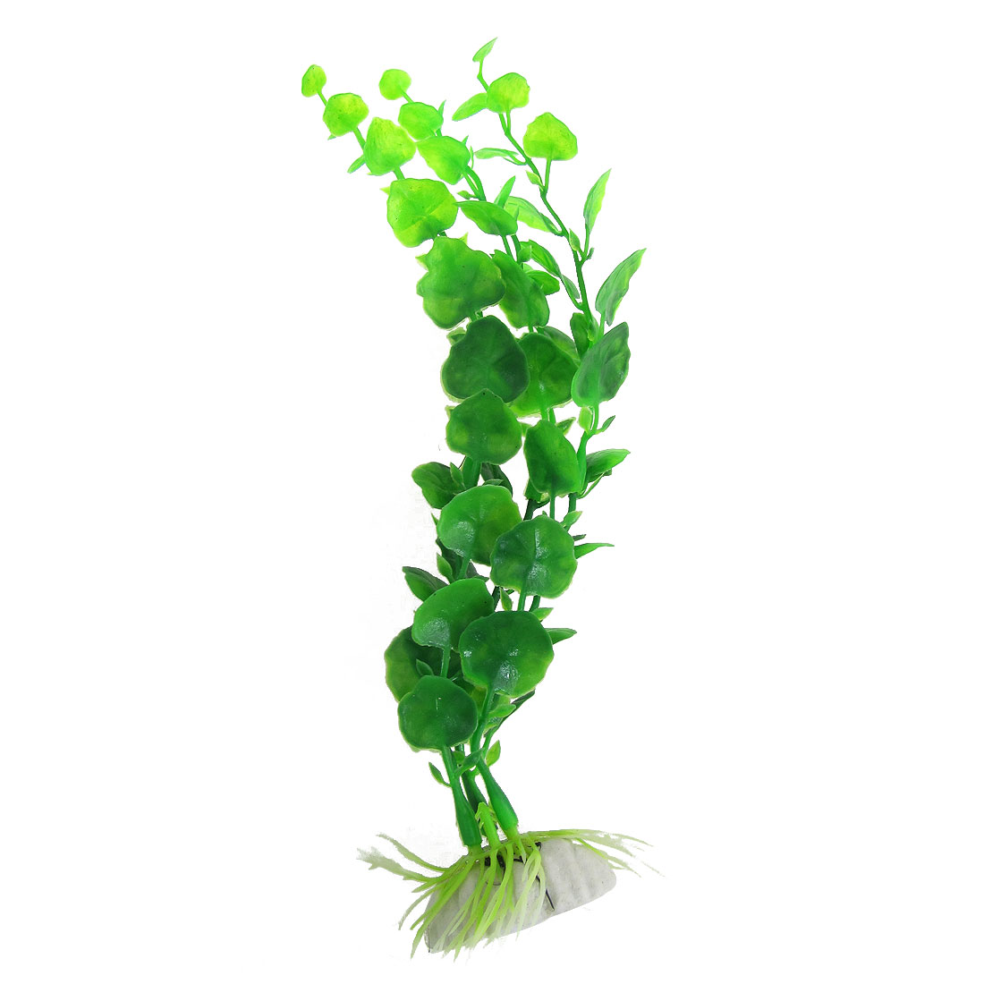 "Fish Tank Green Simulated Plastic Water Plants Ornament 8.7"" High"