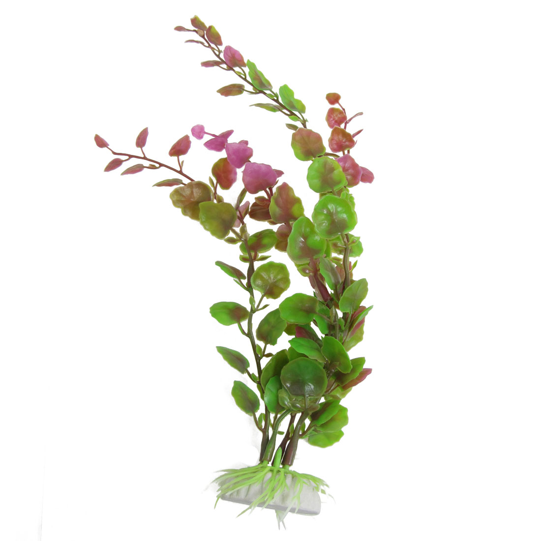 Green Fuchsia Plastic Artificial Grass Plant Aquarium Decor Ornament