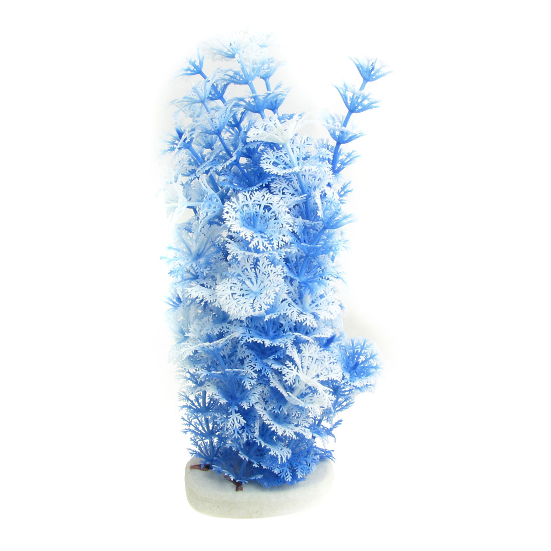 "9.1"" Blue White Emulational Water Grass Ornament for Fish Tank"