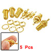 5 Pcs SMA Female Nut Bulkhead Crimp Straight RF Coax Connectors Adapters