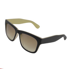 Broad Plastic Arms Full Frame Sunglasses for Woman Man