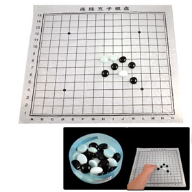 Black White Glass Chessman Renju Gomoku Gobang Chess Game Toy
