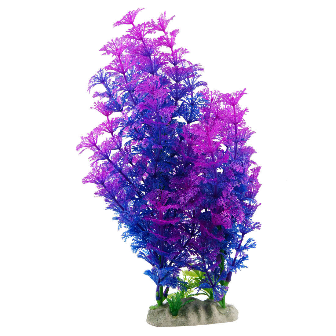 "Fish Tank Purple Blue 10.2"" Artificial Plastic Grass Plant Decoration"