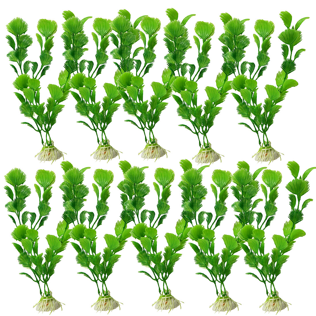 10 Pcs Green Emulational Plants Grass Decoration for Fish Tank