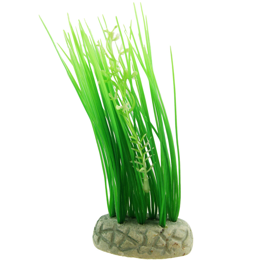 "7.5"" Height Green Artificial Grass for Fish Tank Decor"