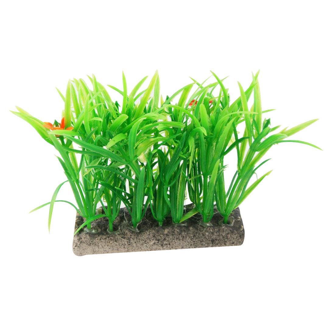 "3.5"" Height Artificial Aquatic Green Plant Decor for Fish Tank"