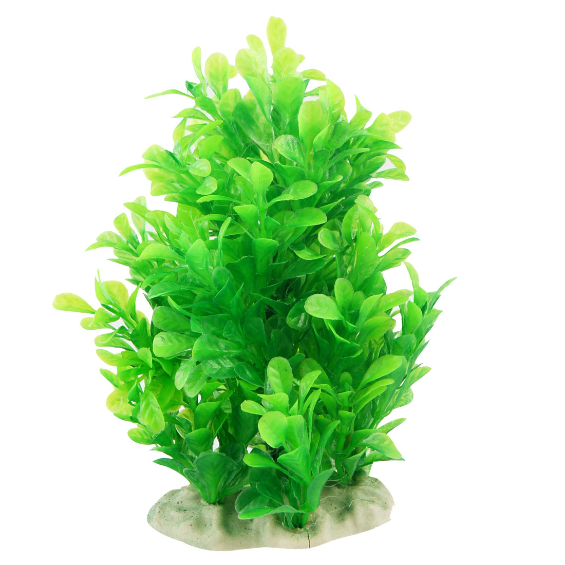 "Aquarium Decor 6.7"" Height Artificial Plastic Grass Plant Green"