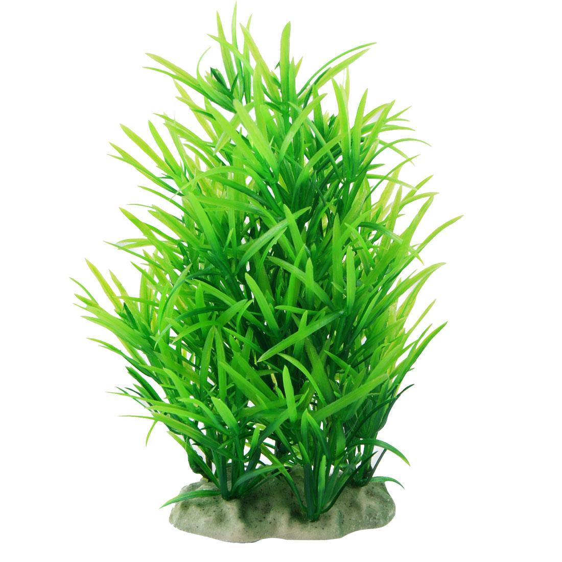 "Aquarium Decorative Green Plastic Plant Grass 7.1"" Height"