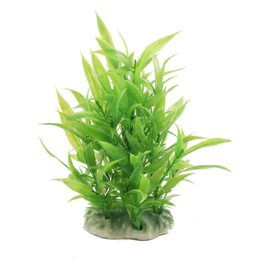 """7.3"""" High Green Artificial Plastic Water Grass Ornament for Aquarium"""