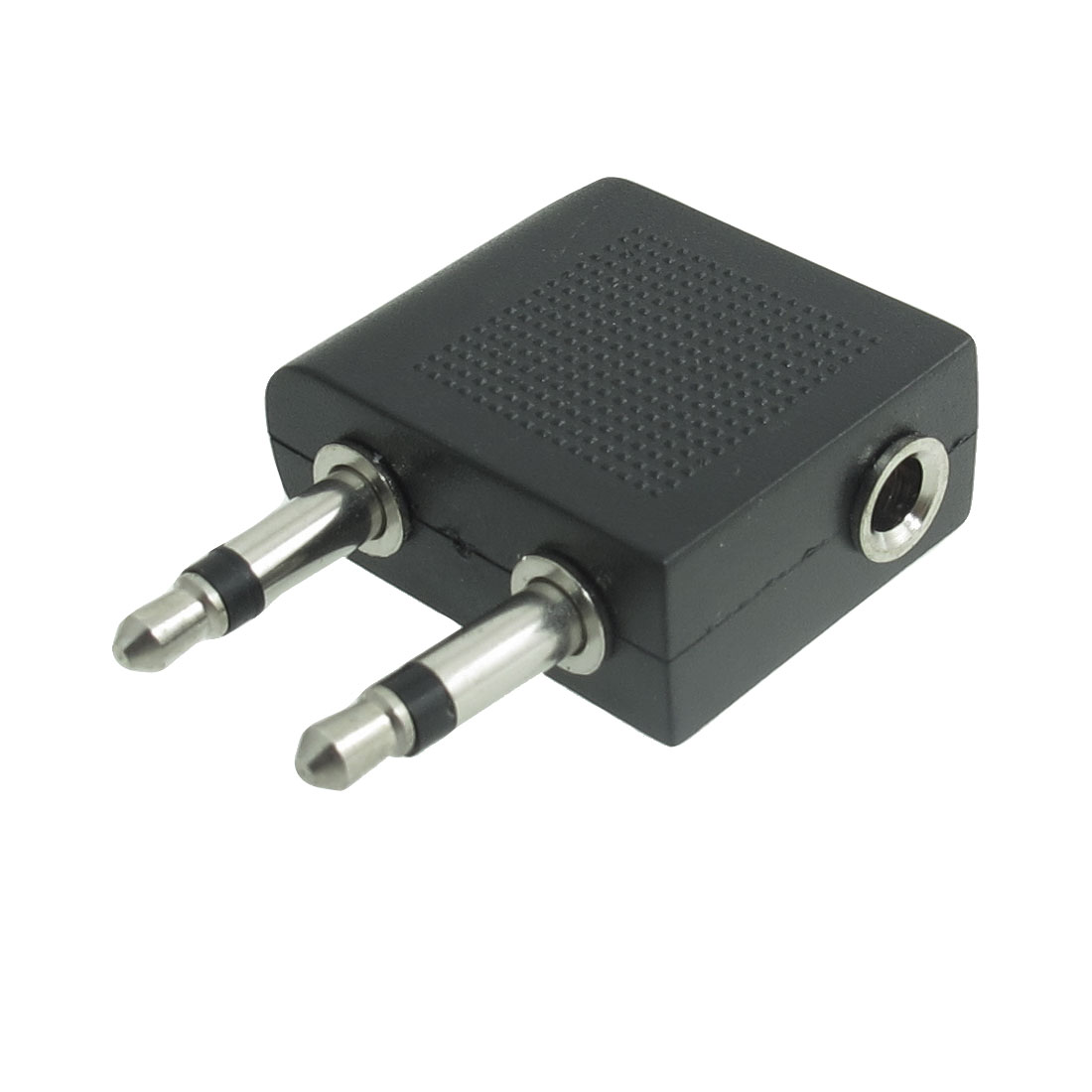 3.5mm Nickel Plated Female to Dual Male Audio Splitter Connector Adaptor Black