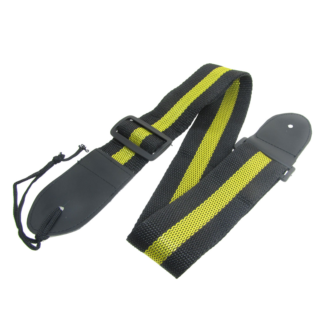 Plastic Slide Buckle Black Yellow Guitar Shoulder Strap