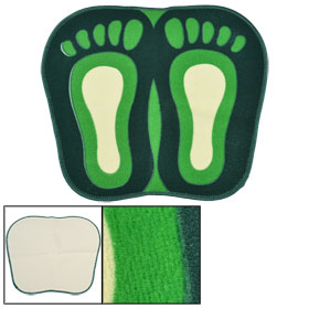 Green Beige Woolen Plush Water Absorbent Front Door Floor Pad
