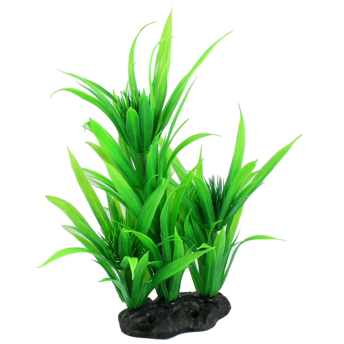 Aquarium Landscaping Green Long Leaves Plastic Plants Grass 9""
