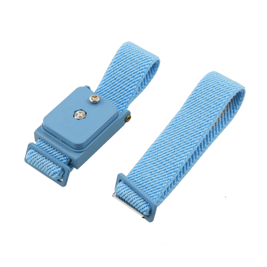 Blue Wireless Adjustable Elastic Antistatic Wrist Strap Wristband