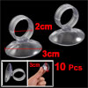 Aquarium Soft Plastic Airline Tube Suction Cup Clip Clamp Holders Clear 10 Pcs