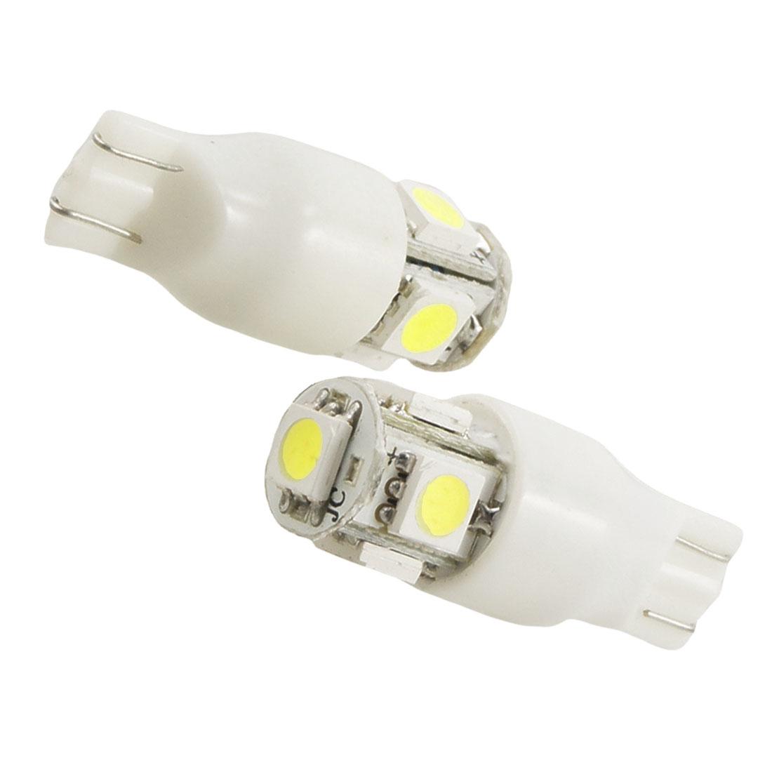 Car T15 5050 5 SMD White LED Stop Tail Light Bulb 2 Pcs