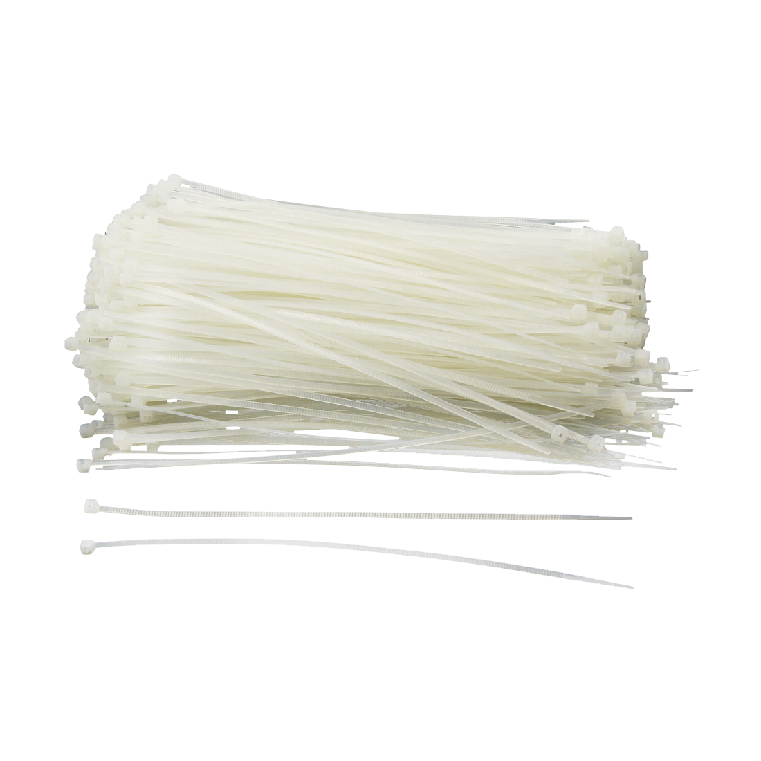 500 Pcs White Plastic Cable Zip Tie Fasten Wrap 195mm x 2.7mm