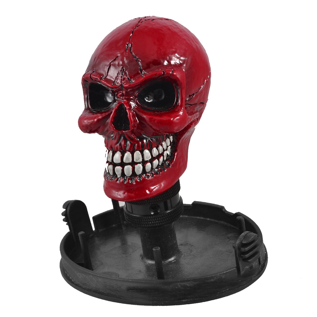 Car Vehicle Decoration Red Skull Head Design Gear Shift Knob