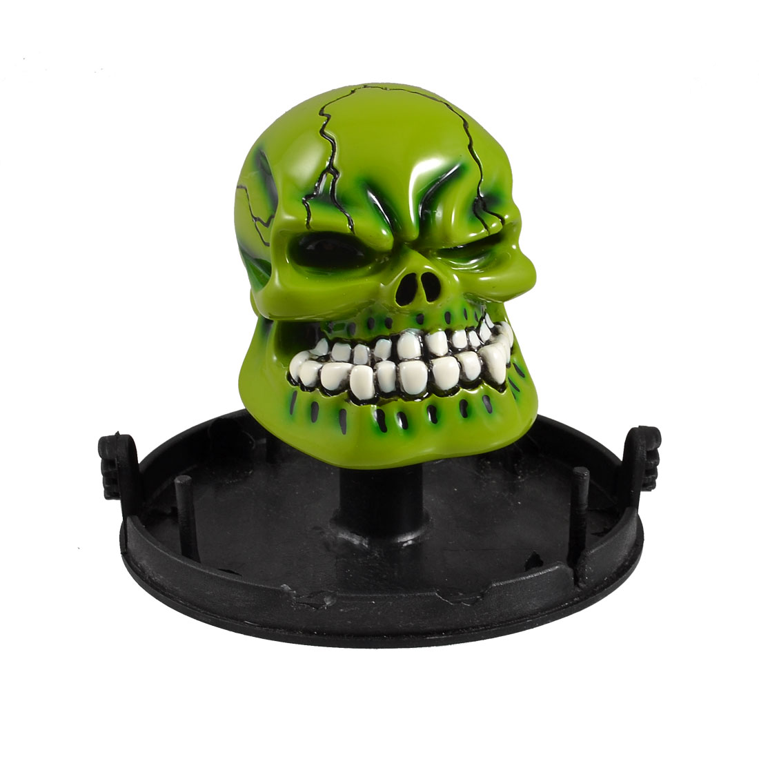 Auto Car Black Green Skull Head Design Ceramic Gear Shift Knob