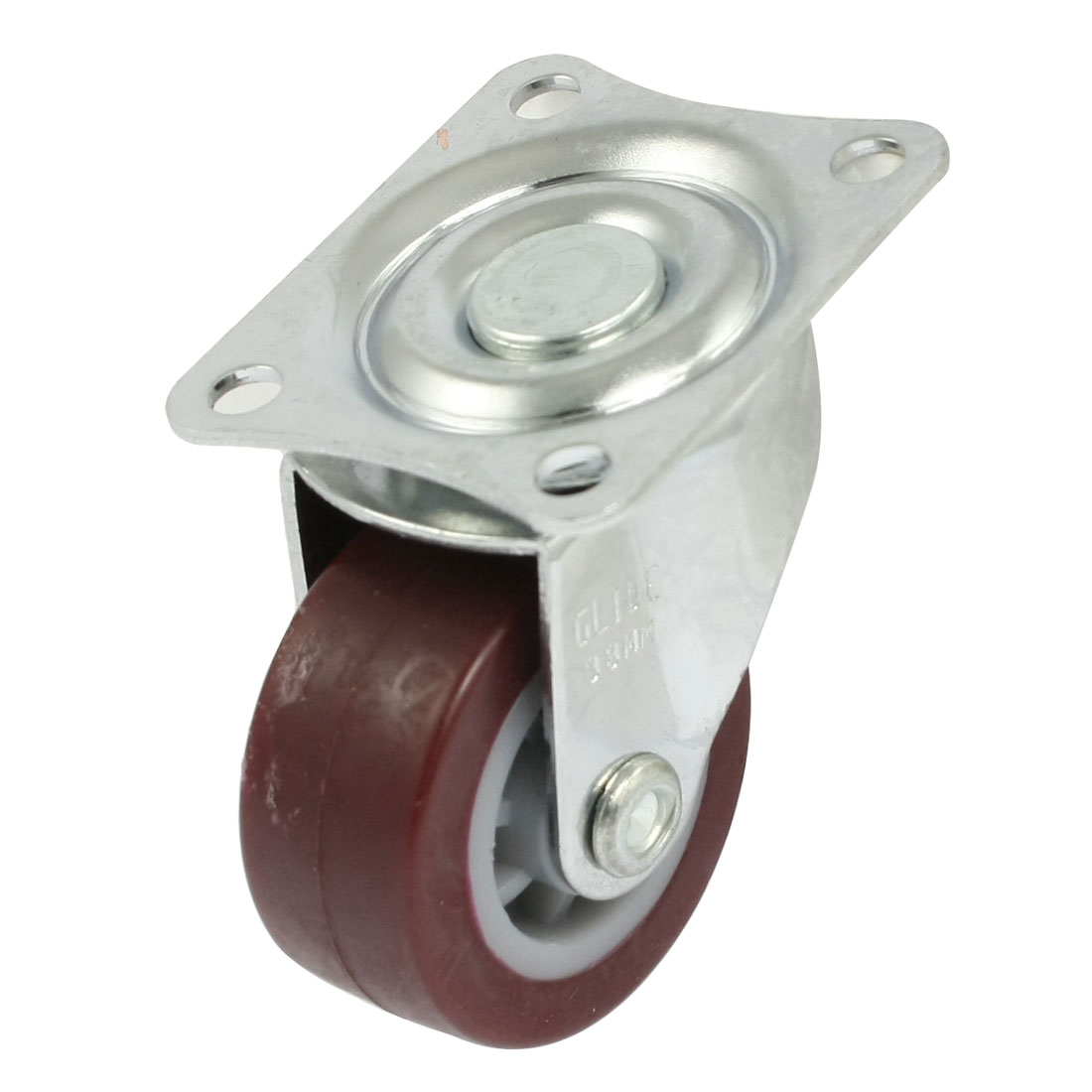 35mm x 15mm Light Duty Fixed Type Burgundy PP Industrial Caster Wheel