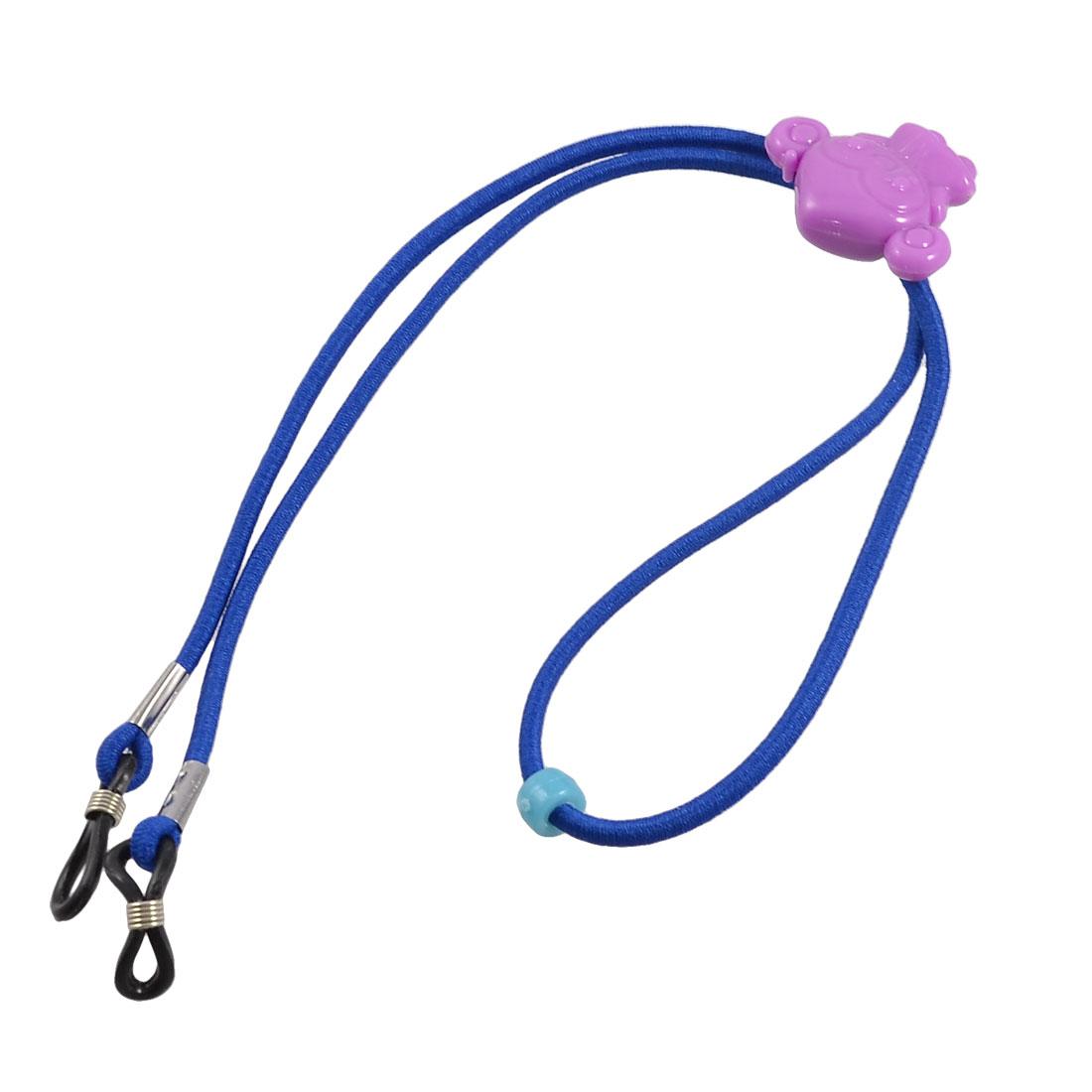 Adjustable Dark Blue Elastic Nylon Neck Lanyard Glasses Holder Retainer