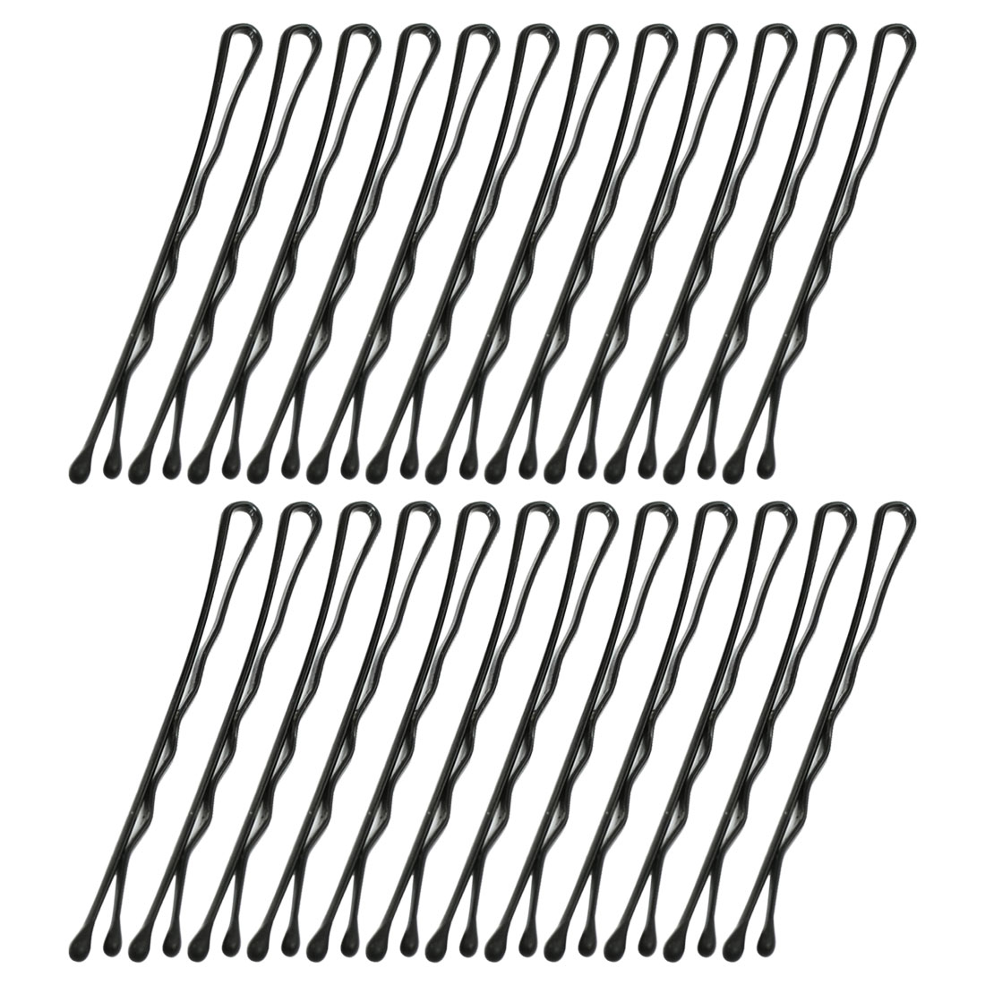 Women Hairstyling Metal Bobby Pin Clip Clamp Black 24 Pcs