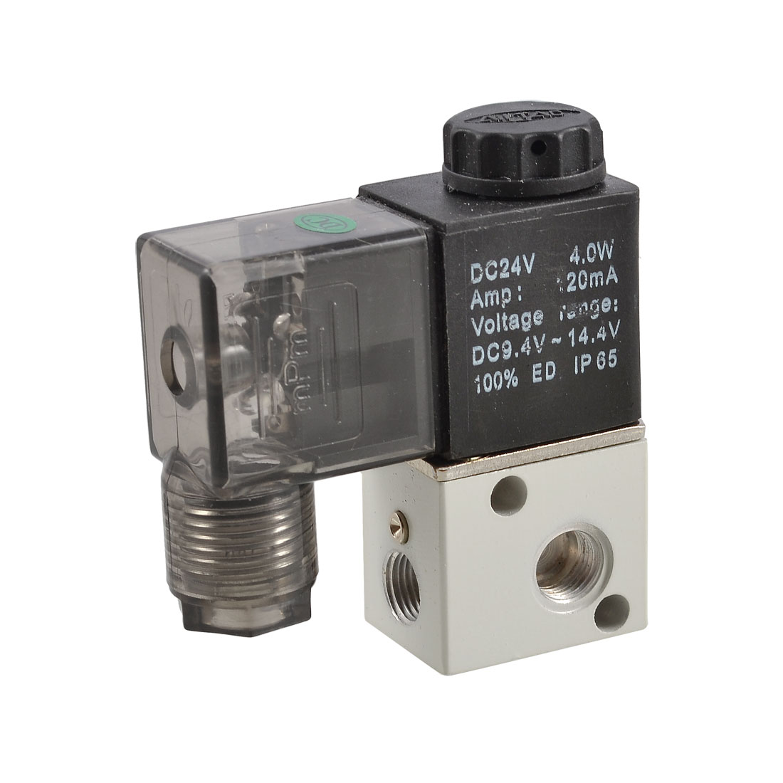 3V1-06 4W 120mA DC 24V Two Position Three Way Pneumatic Solenoid Valve