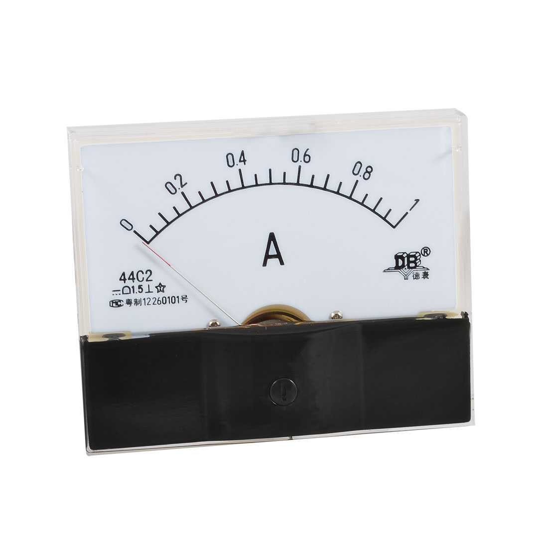 Analog DC 0-1A Current Testing Rectangle Panel Meter Ammeter 44C2