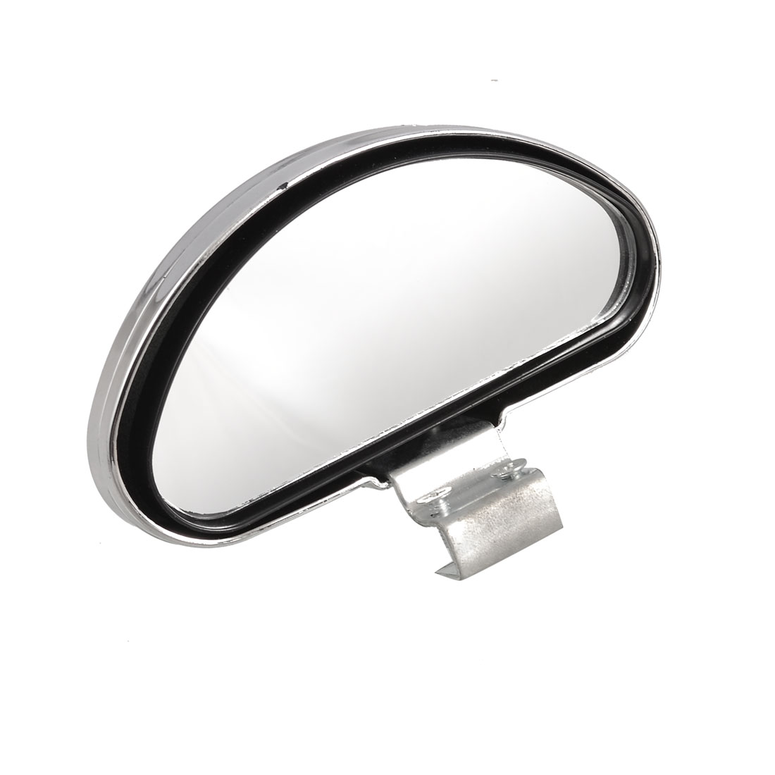 Auto Adjustable Angle Arch Shaped Blind Spot Mirror Silver Tone