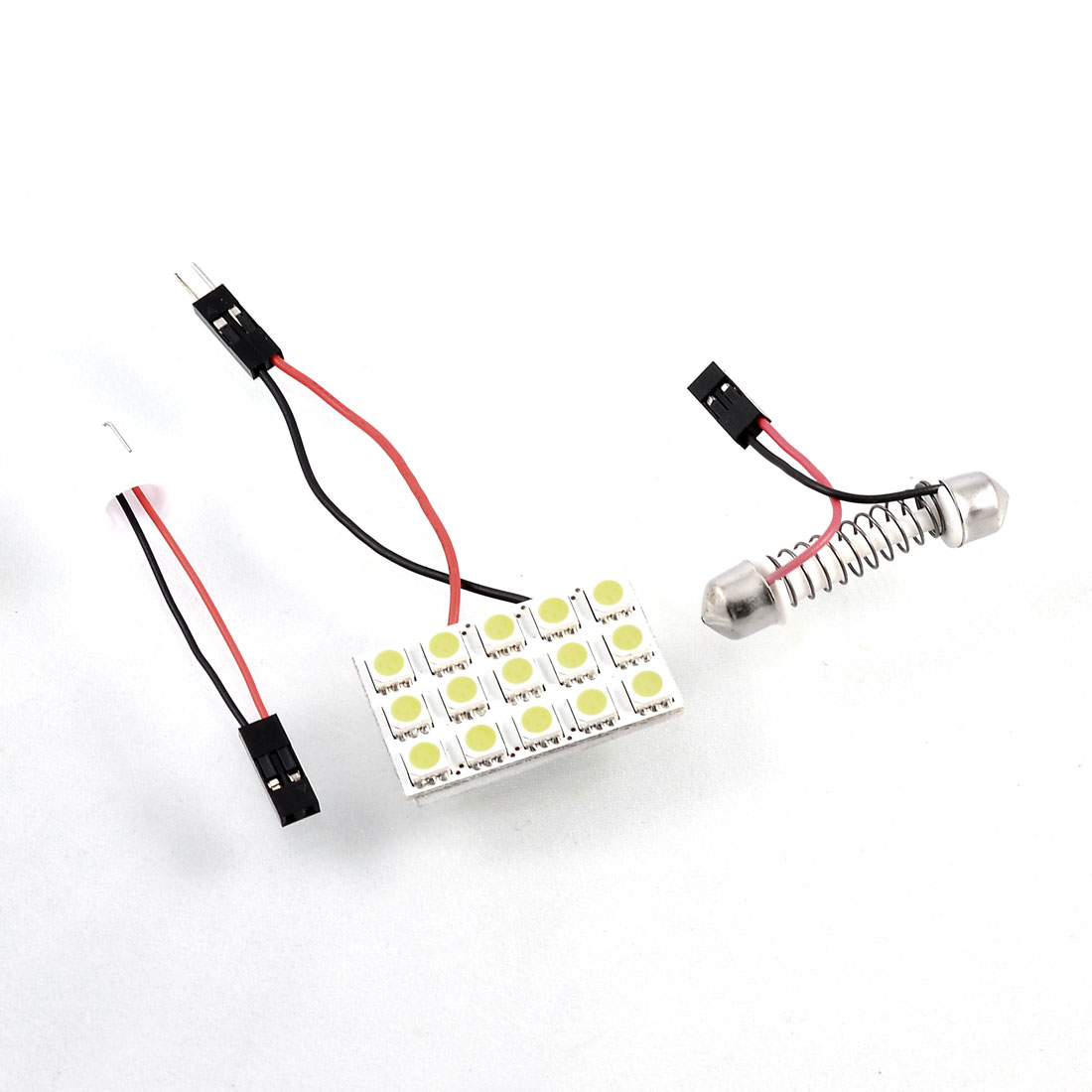 Auto 15 SMD LED White Dome Light Panel Bulb + T10 + Festoon Adapter